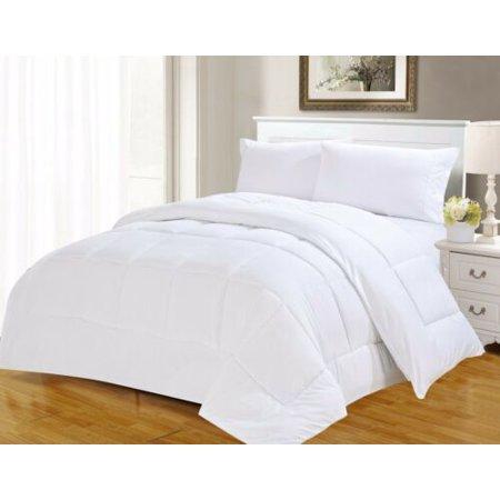 Twin Luxury Bedding (1PC 899 TWIN WHITE DOWN ALTERNATIVE EGYPTION LUXURY HOTEL COMFORTER)