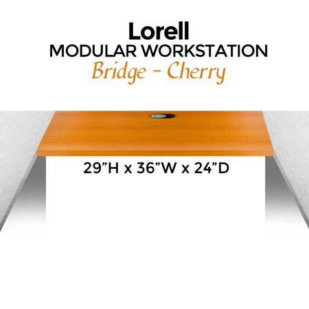 - Lorell Modular Workstation Bridge, 29H x 36W x 24D, Cherry- XSDP -LLR87300 - Now you can turn smaller spaces into high-functioning office areas with the Lorell Modular Workstation Bridge. This br
