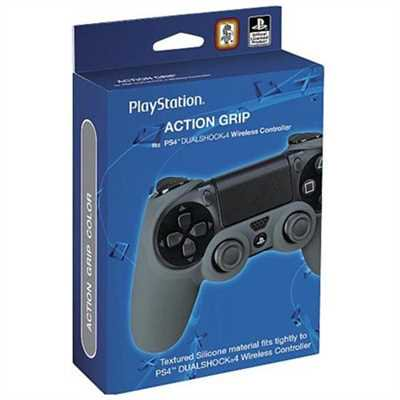 Action Grip Sleeve Dualshock 4 Wireless Controller for Sony PS4 - Gray