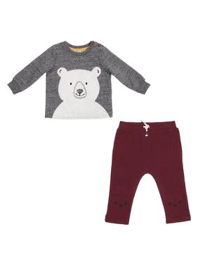 ED Ellen DeGeneres Baby Boy 2 Piece Bear Pant Set