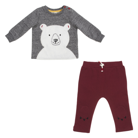 Baby 2 Piece Bear Pant Set (Boys & Girls)