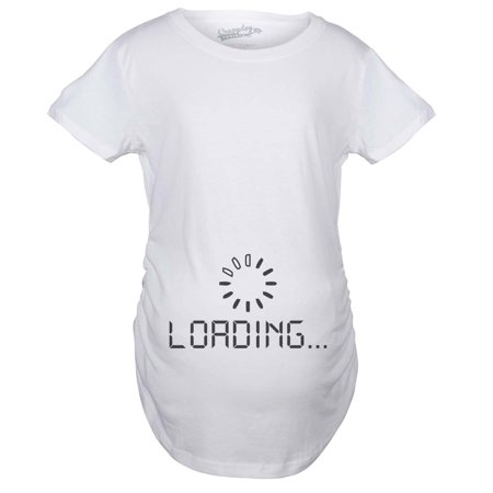 Crazy Dog TShirts - Maternity Baby Loading Shirt Humor Funny Pregnancy  Shirts Cheap Tees - Walmart.com