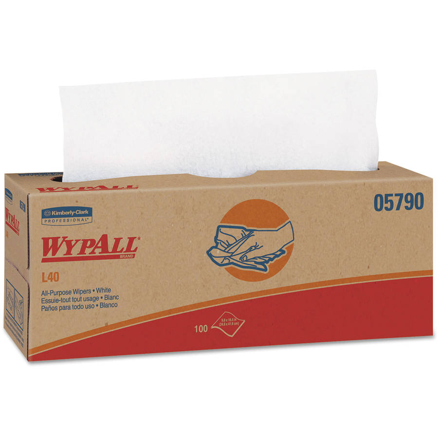 Kimberly-Clark Professional Wypall L40 Cloth-Like Wipes, 100 sheets, 9 ct