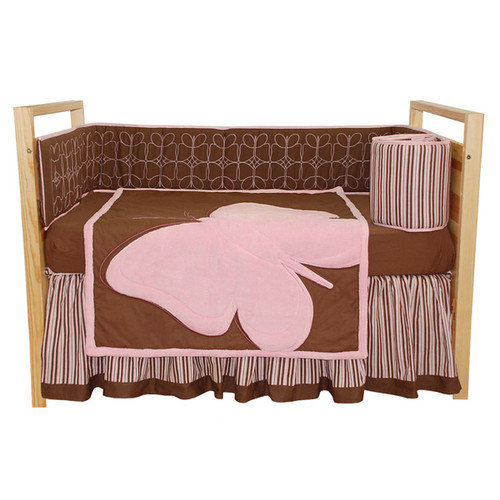 Tadpoles Butterfly Baby 4 Piece Crib Bedding Set