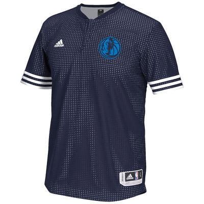 Dallas Mavericks Adidas NBA Men's On-Court Authentic Short Sleeve Shooting Shirt