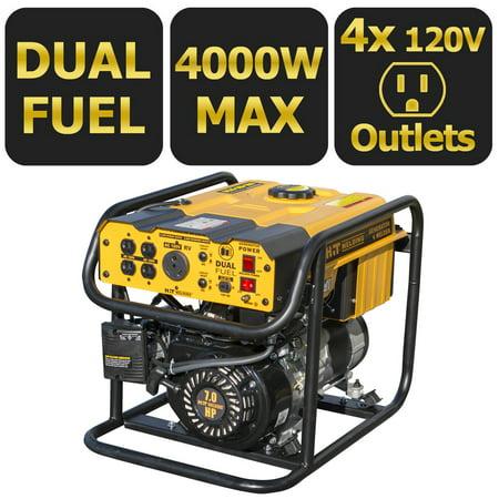 HIT Dual Fuel 4000 Watt Generator 85 Amp Stick Welder Combo TIG (Best Tig Welder For Aluminium)