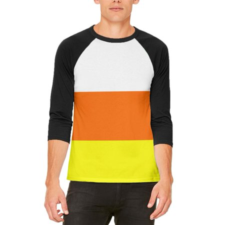 Halloween Candy Corn Costume Mens Raglan T Shirt - Worst Candy For Halloween