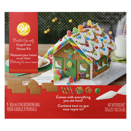 - Wilton Build-it-Yourself Gingerbread House Decorating Kit, Petite