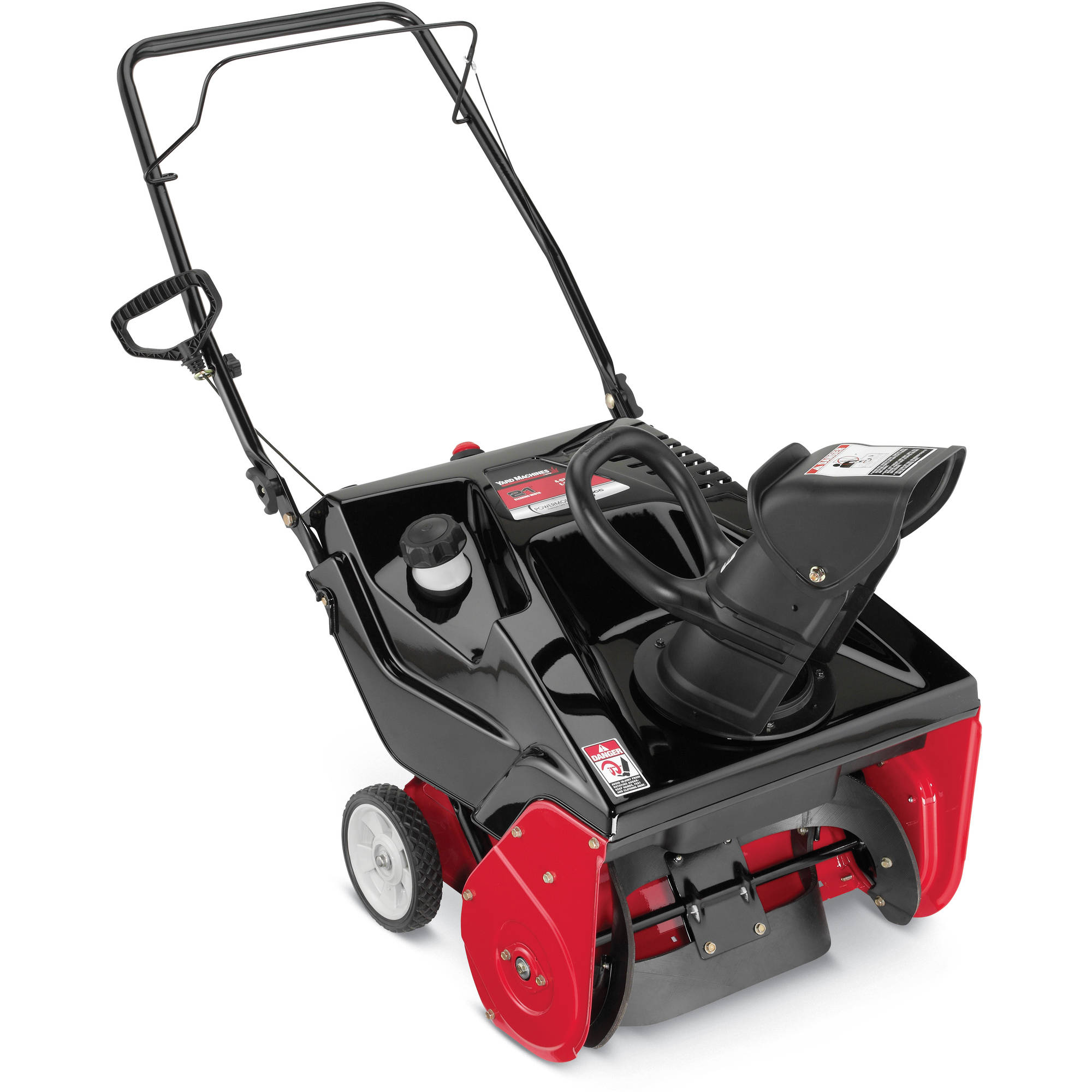 "Click here to buy Yard Machines 21"" 123cc Single-Stage Snow Blower by MTD Products."