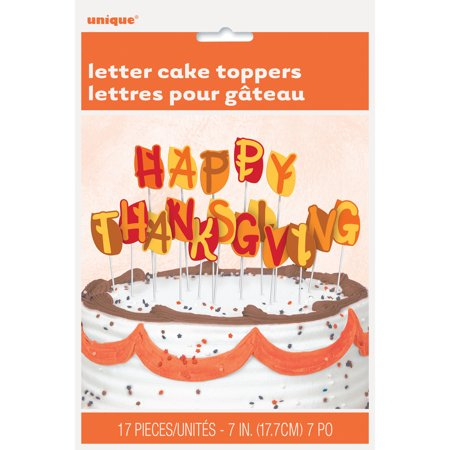 - Happy Thanksgiving Letter Cake Toppers