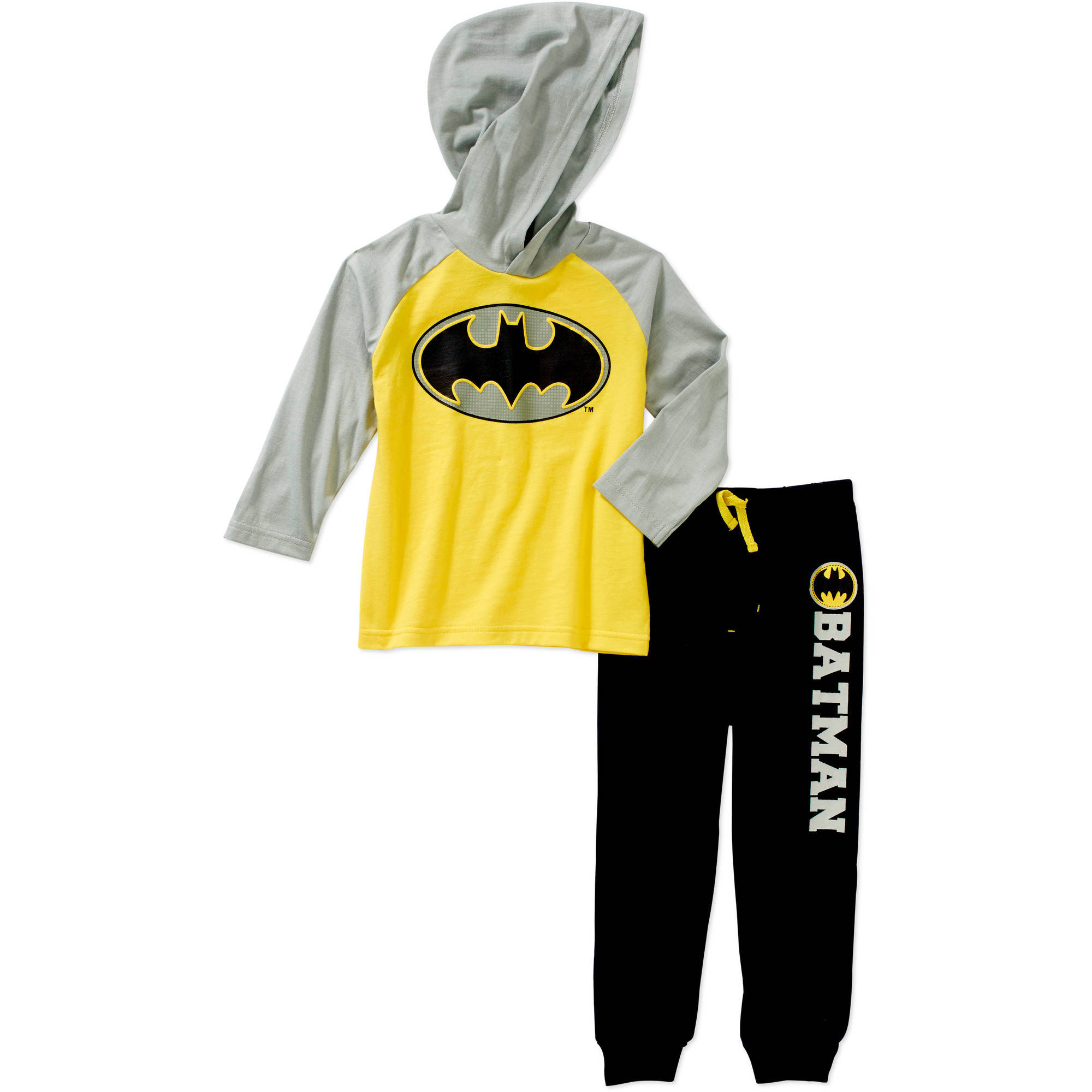Batman Toddler Boys' Hooded Tee and Pant Set