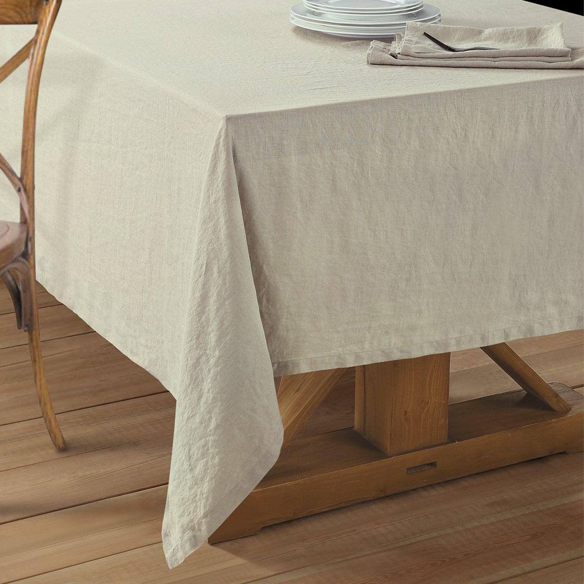 echelon home washed belgian linen tablecloth