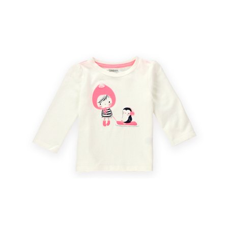 Gymboree Girls Penguin Sled Embellished T Shirt