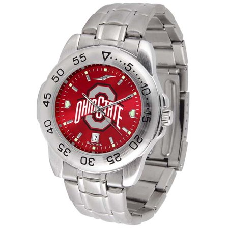 Ohio State Sport Anonized Men's Steel Band Watch