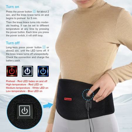 Waist Heating Pad Belt,Back Heat Wrap Hot and Cold Therapy for Waist Pain Relief Muscle Strain Dysmenorrhea Abdominal Pain