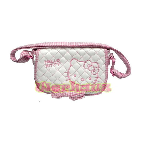 Hello Kitty Quilted Small Cross Body Bag Mini Messenger Purse,