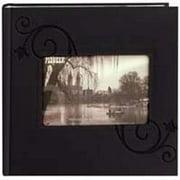 Pioneer Embossed Leatherette Black Floral Photo Album 4x6