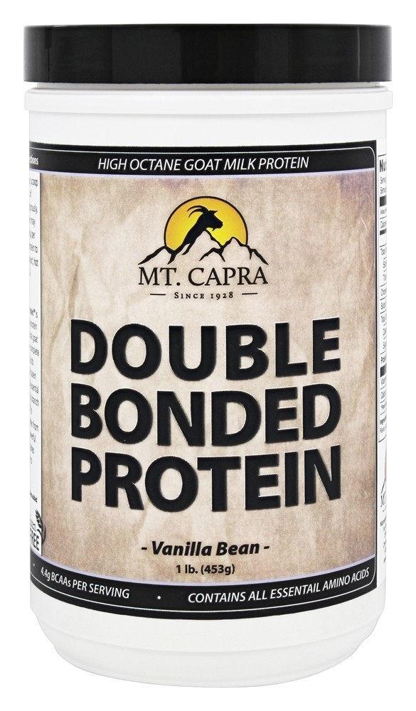 Mt. Capra Products Double Bonded Goat Milk Protein Vanilla Bean 1 lb. by