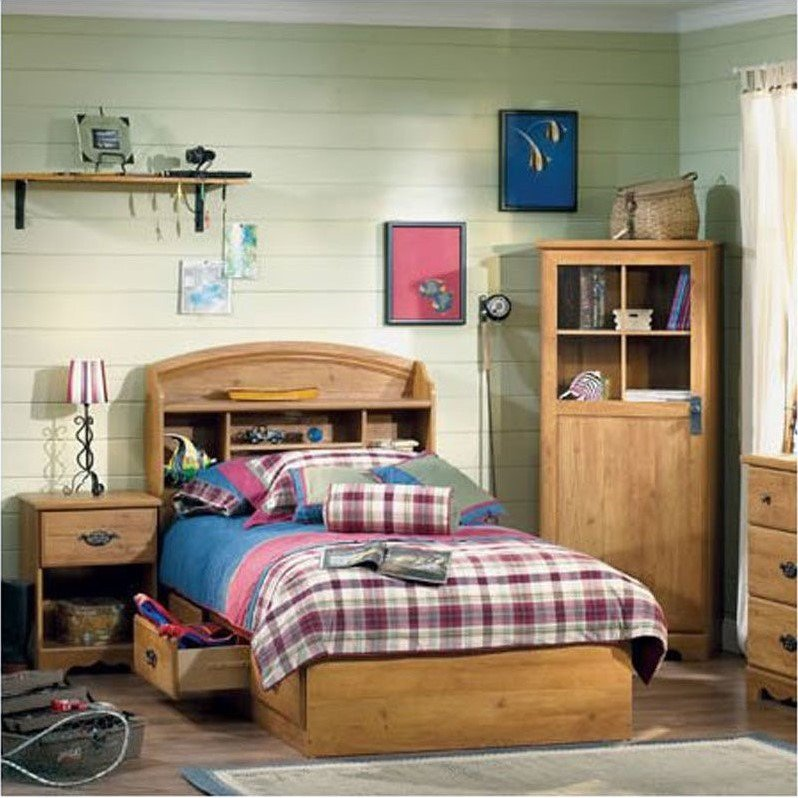 South Shore Prairie Twin Country Pine 3 Piece Kids Bedroom Set