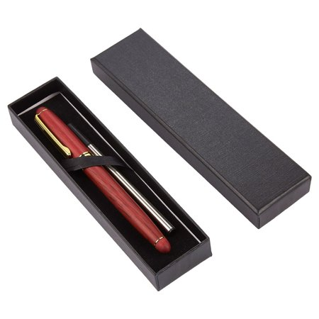 0.5 Inch Medium Crown Staples - Pen Gift Set - Rosewood Luxury Ballpoint Pen for Personal, Executive Use, Red with Gold Accents - 5.7 x 0.5 x 0.5 Inches