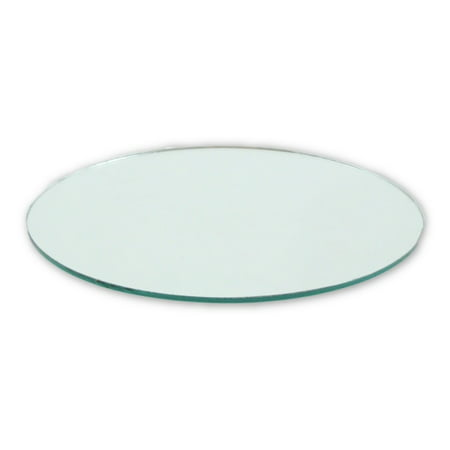 4 Inch Glass Craft Small Round Mirror 2 Pieces Mosaic Mirror Tiles (Mosaic Pieces)