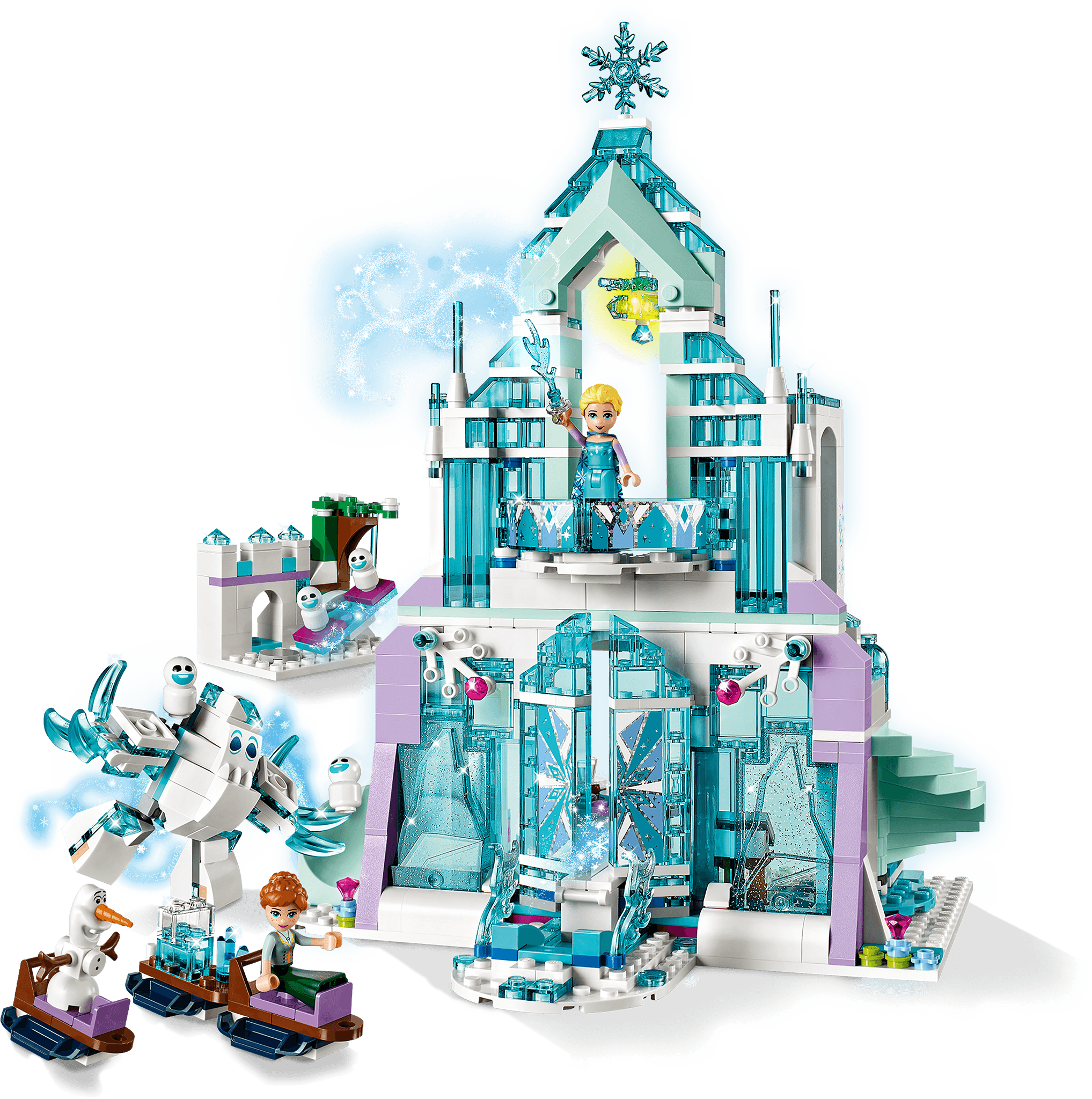 LEGO Disney Princess Elsa/'s Magical Ice Palace 43172 Frozen Anna Olaf