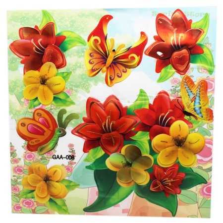 Room Decor For Kids 3d Springtime Flowers And Butterflies Stickers