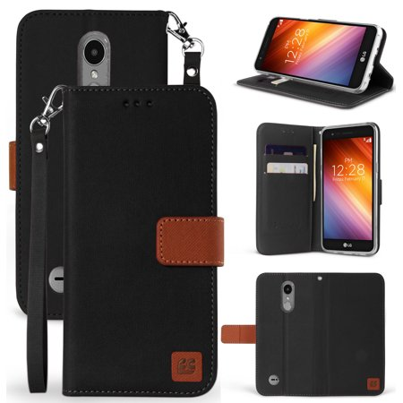 quality design c2989 91731 LG K8+/K8 2018/Fortune 2/Phoenix 3 Case, New Infolio Credit Card Slot  Cover, View Stand [with Magnetic Closure, Wrist Strap Lanyard] for LG  Fortune 2, ...