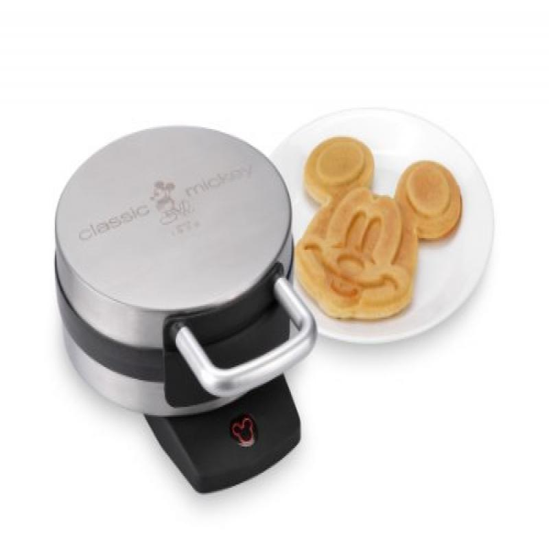 Disney DCM-1 Classic Mickey Waffle Maker, Brushed Stainle...