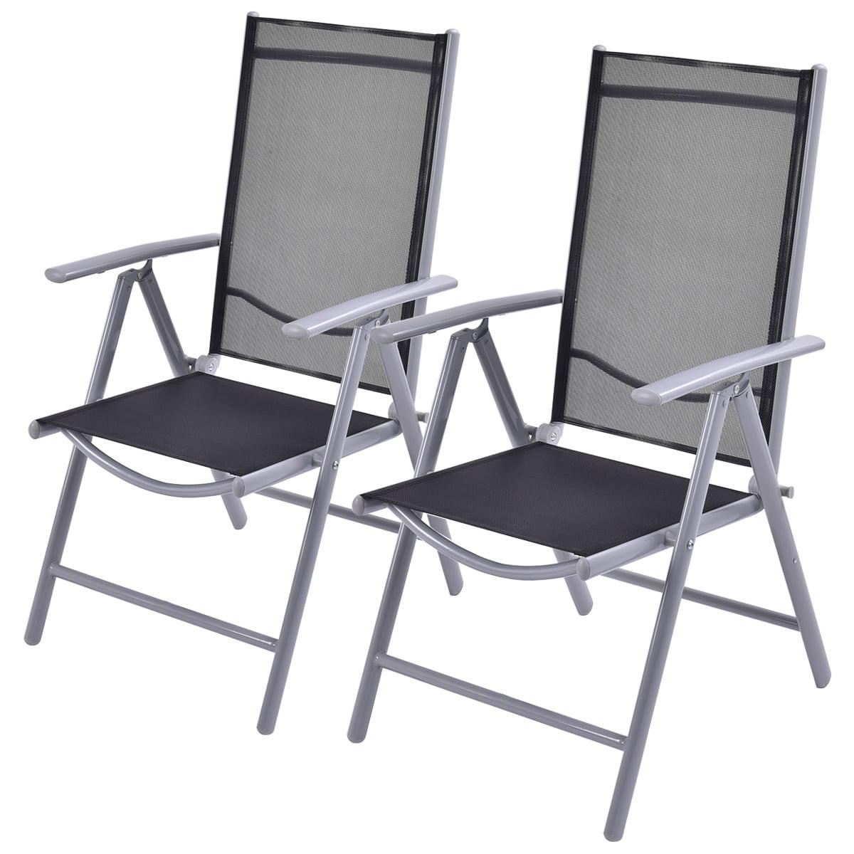 Costway Set of 10 Patio Folding Chairs Adjustable Reclining Indoor Outdoor  Garden Pool - Walmart.com