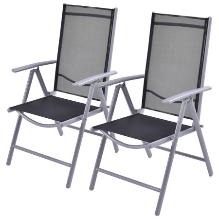 Pleasant Costway Set Of 2 Patio Folding Chairs Adjustable Reclining Indoor Outdoor Garden Pool Dailytribune Chair Design For Home Dailytribuneorg