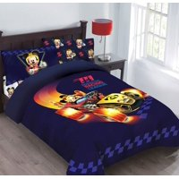 Disney 4pc MICKEY MOUSE Super Charged Racer Bedding Set, Licensed Full Comforter W/Fitted Sheet And Pillowcases