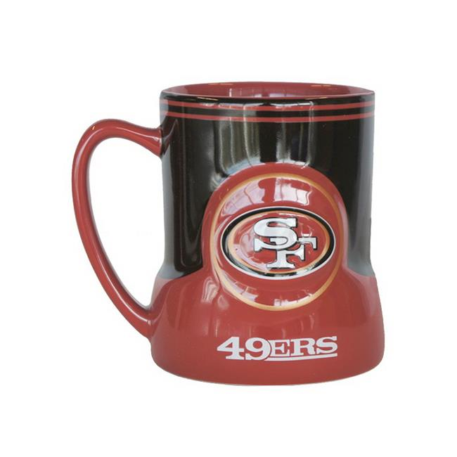NFL San Francisco 49ers Sculpted Game Time Coffee Mug 18-ounce