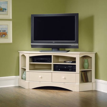 "Sauder Harbor View Corner Entertainment Credenza for TVs up to 42"" in Multiple Finishes"