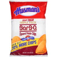 Husmans BBQ Flavored Potato Chips Triple Pack 12 Oz.