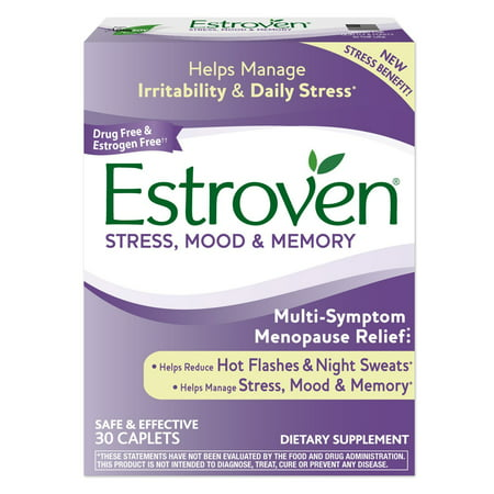 - Estroven Stress Plus Mood & Memory, One Per Day, Multi-Symptom Menopause Relief: Black Cohosh, Soy Isoflavones, Ginko Biloba Leaf, Magnolia Bark Extract, 30 Count.., By I-HEALTH INC.