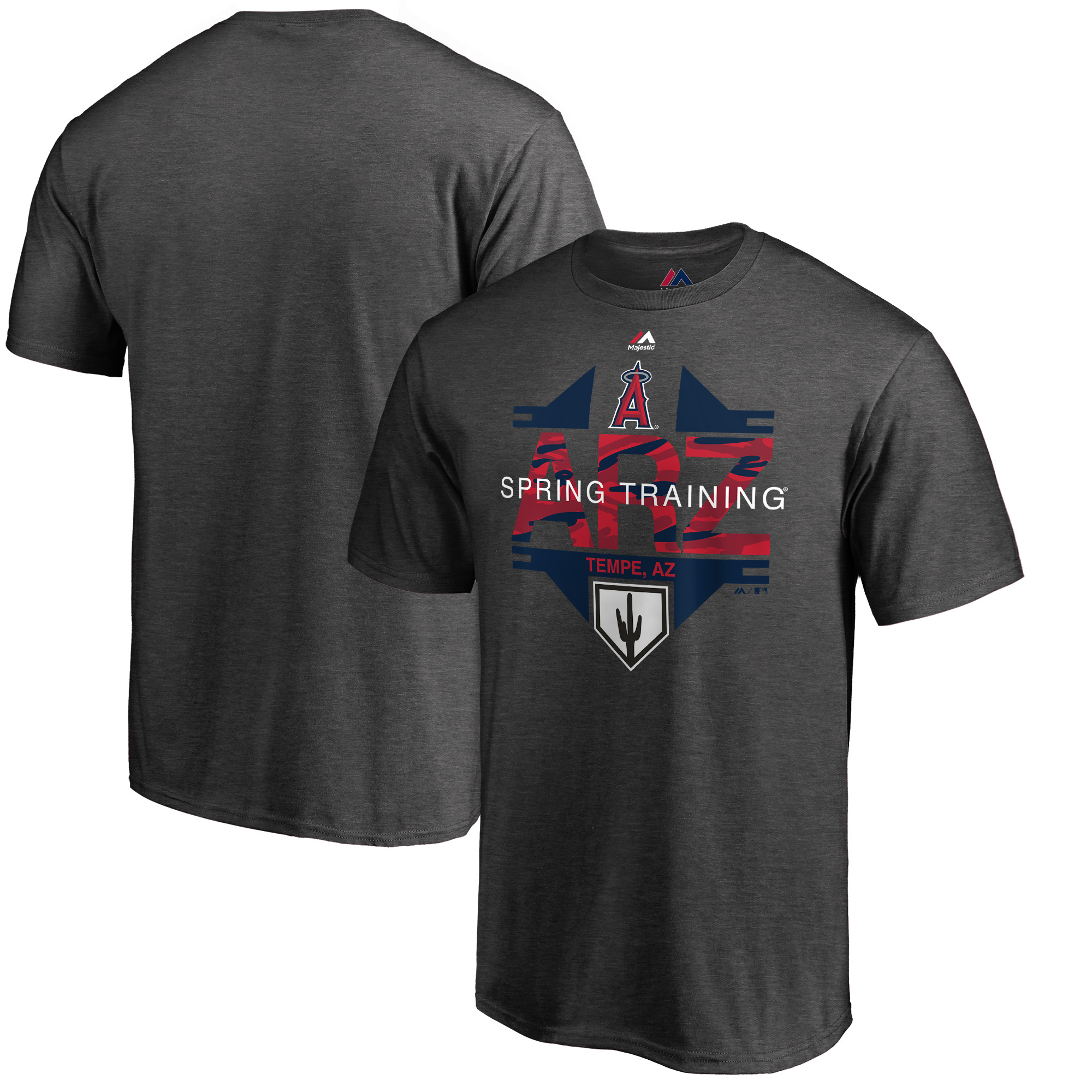 Los Angeles Angels Majestic 2019 Spring Training Cactus League Winner T-Shirt - Heather Gray