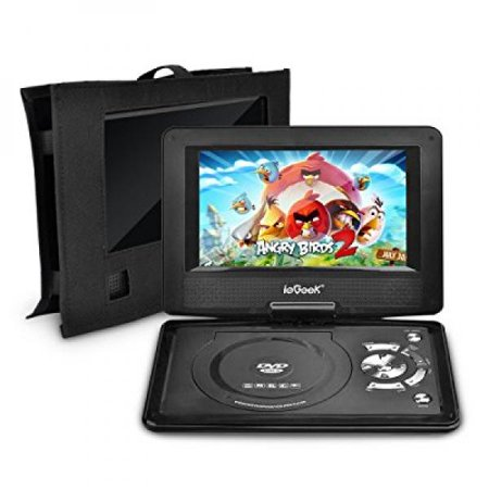 iegeek 12 5 portable dvd player kit portable dvd player. Black Bedroom Furniture Sets. Home Design Ideas