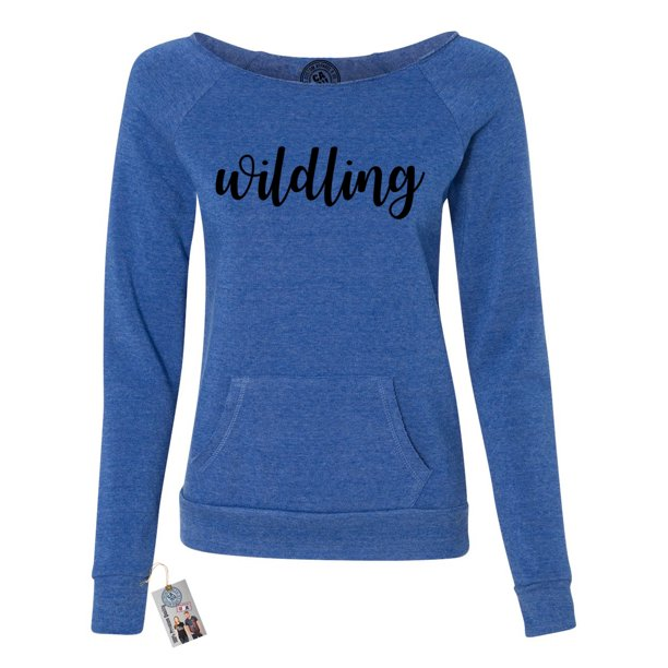 Games of Throne Wildling Shirt Womens Off the Shoulder Pocket Sweatshirt