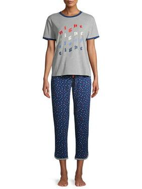 EV1 from Ellen DeGeneres Short Sleeve Top & Pant Pajama Set Women's