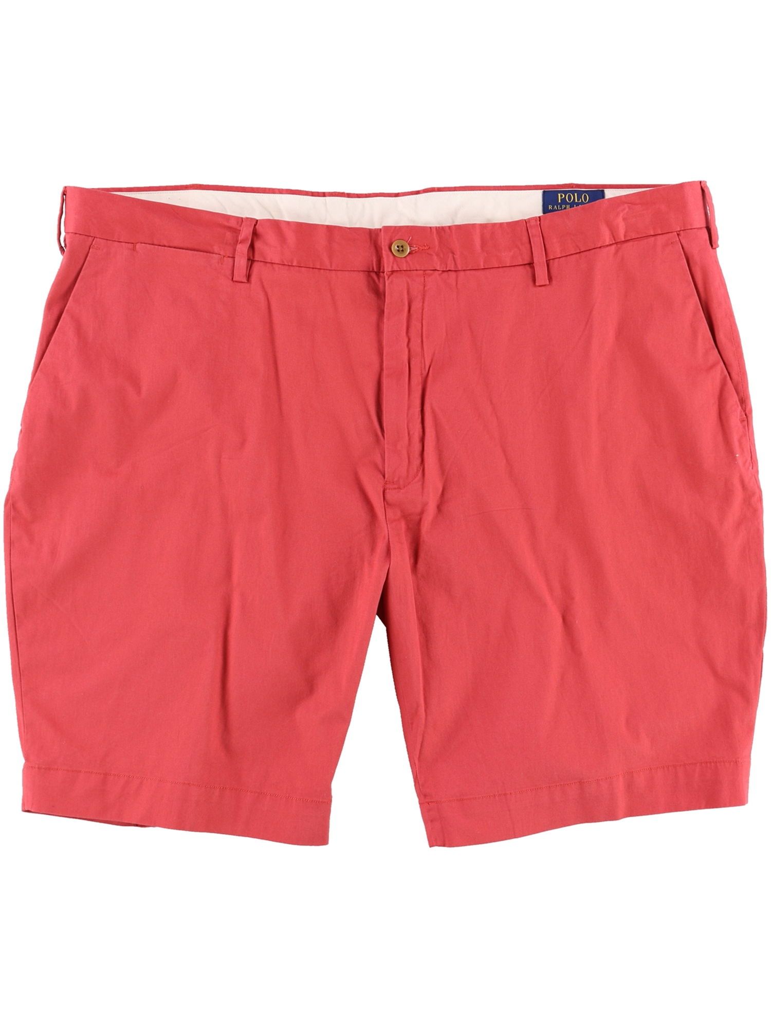 36 Casual Red Mens Stretch Chino Solid Shorts Lauren Ralph xWEQeorBdC