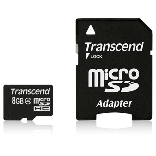 Transcend 8GB microSD High Capacity (microSDHC) Class 4 Card