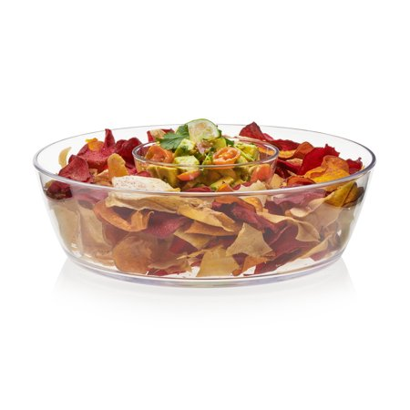 Libbey Indoors Out 2-Piece Break-Resistant Chip and Dip Bowl Set - Chip Bowl