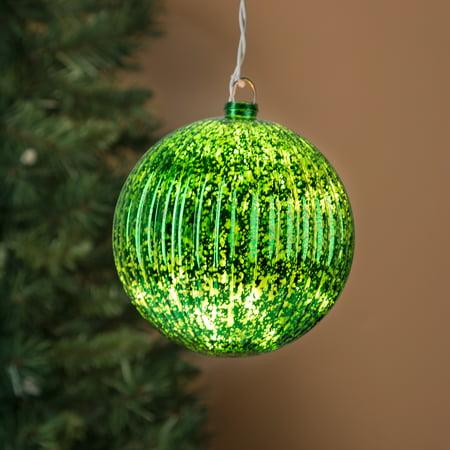 Light Up Indoor/Outdoor Mercury Glass Ball Large Giant Christmas Tree Ornament - Walmart.com