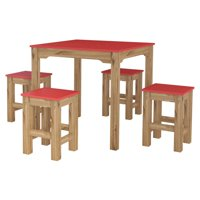 Manhattan Comfort Stillwell 5 Piece Square Dining Table Set