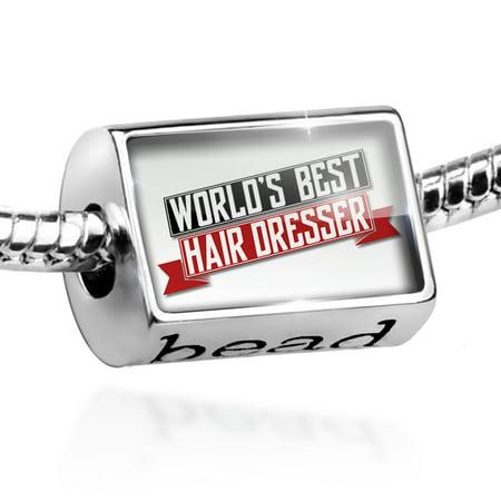 Bead Worlds Best Hair Dresser Charm Fits All European