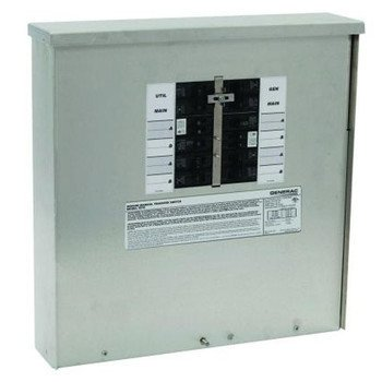 GENERAC 6379 Manual Transfer Switch, 125/250V, 18 In. H