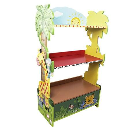 Fantasy Fields Sunny Safari Kids Bookshelf, 3-Shelf with Cabinet