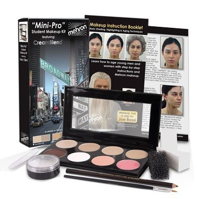 Mini-Pro Student Makeup Kit Medium Dark/Dark Mehron HD Theater Stage Medium Dark