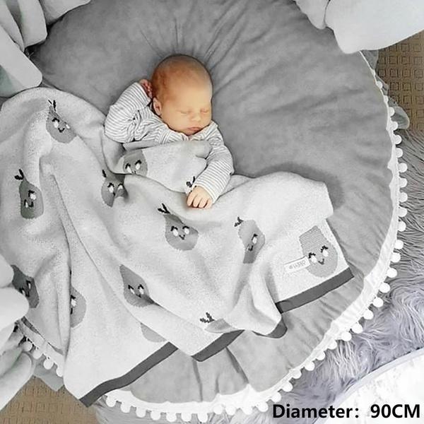 Soft Nursery Cushion Baby Activity Pad Play Mat Floor Rug 90cm Crawling Blanket